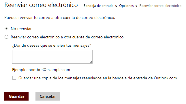 reenviar correos outlook