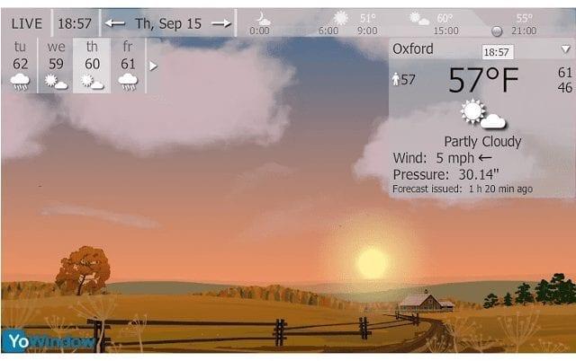 Tiempo atmosférico YoWindow