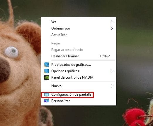 configurar varios monitores en Windows 10
