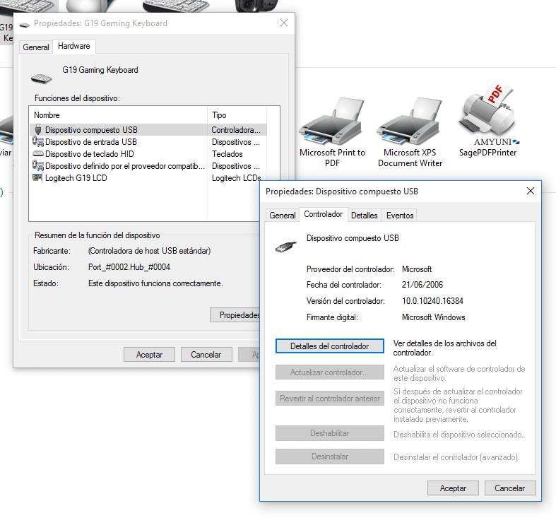 Cómo configurar los dispositivos e impresoras en Windows 10 b