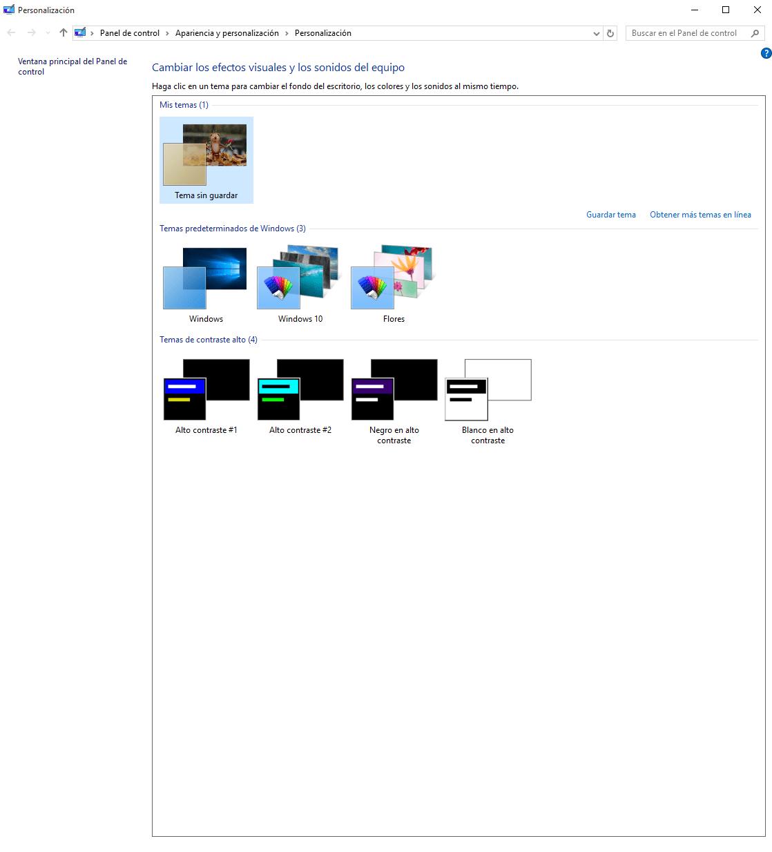 Cómo cambiar el fondo en Windows 10 d