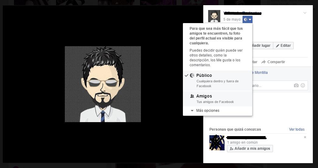 Facebook: imagen perfil privado