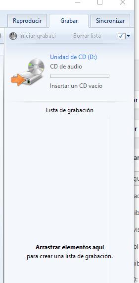Grabar un CD con Media Player