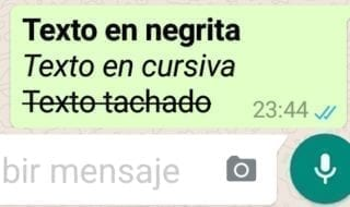 negritas cursivas subrayados whatsapp