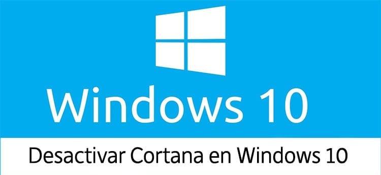 desactivar cortana windows 10