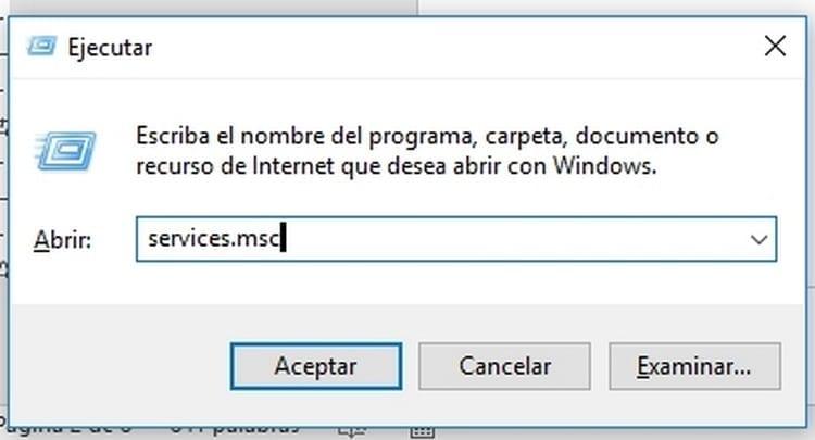 servicios de sistema windows 10