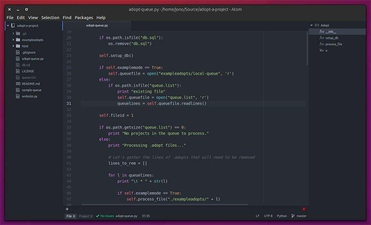 Editor de código Atom