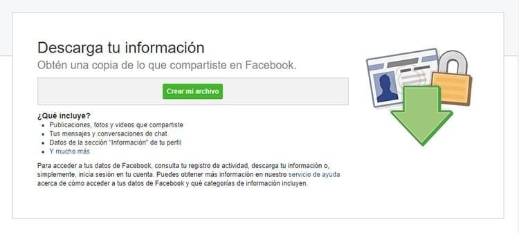 Crea una copia de tu contenido en Facebook