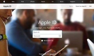 inicio sesion apple id
