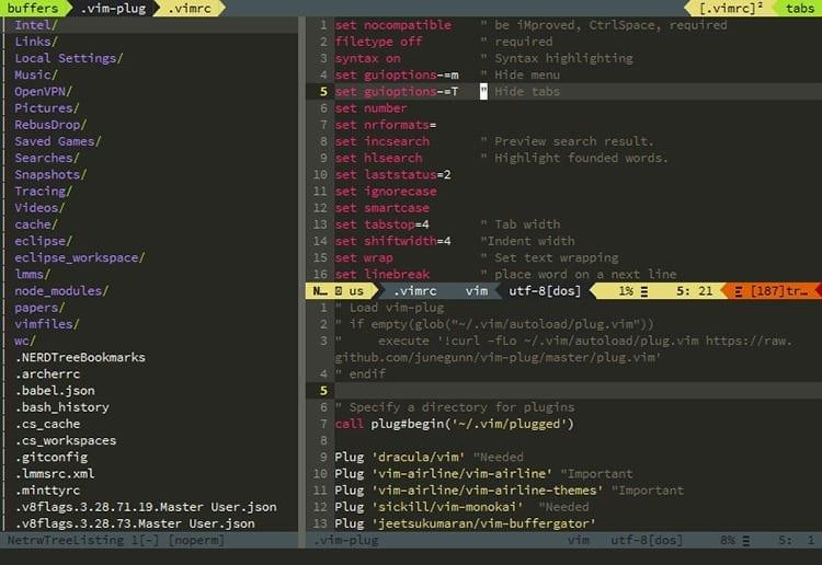 Editor de código VIM