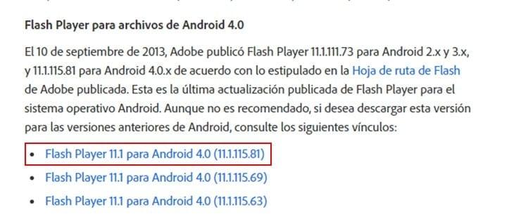 Descargar Adobe Flash Player para Android
