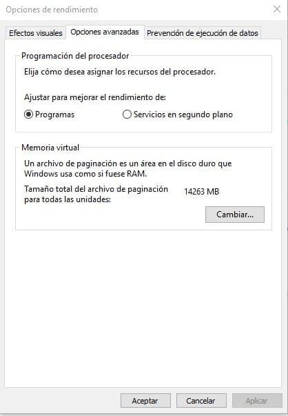 archivo paginacion windows 10