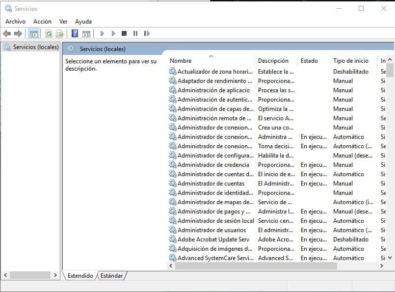 optimizar servicios windows 10