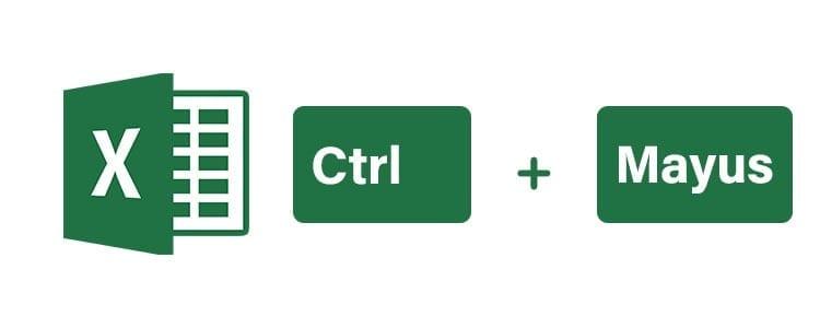 Atajos de teclado Excel control y mayúsculas