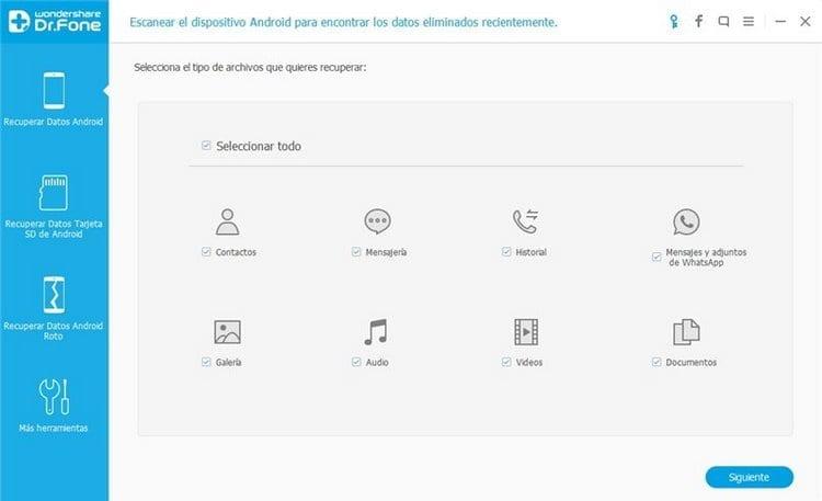 Exportar contactos iPhone utilizando iTunes con dr.fone