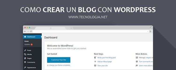 como crear un blog con wordpress org