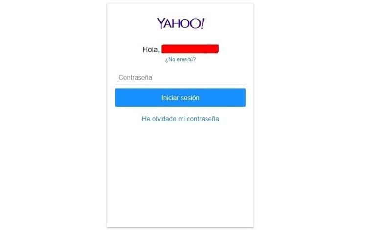 introducir contraseña de yahoo.com