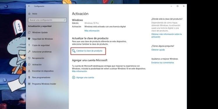 Activar Windows introduciendo la licencia
