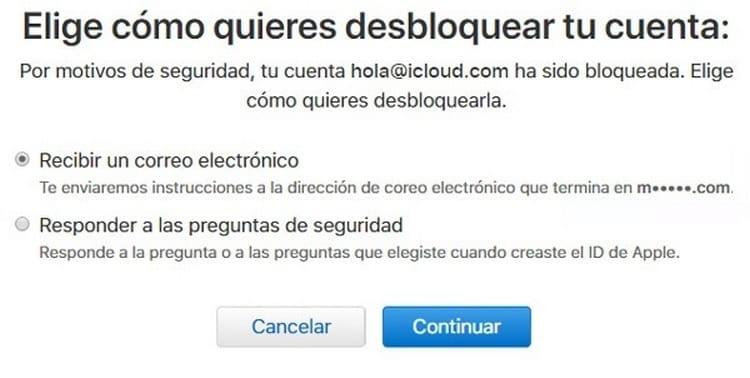 cómo desbloquear cuenta Apple ID iCloud