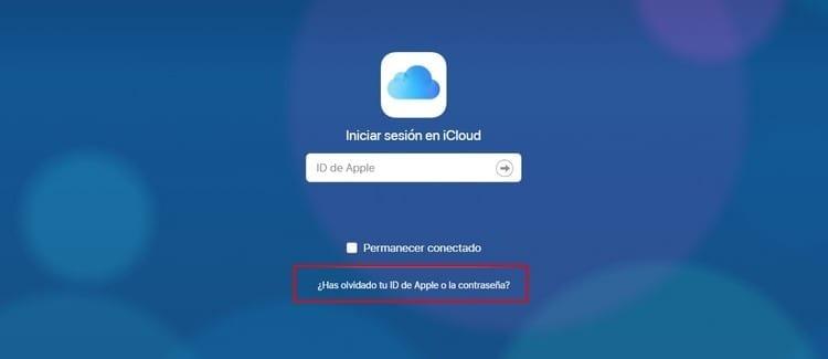 problema contraseña Apple ID iCloud iniciar sesión