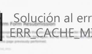 solucion error err cache miss