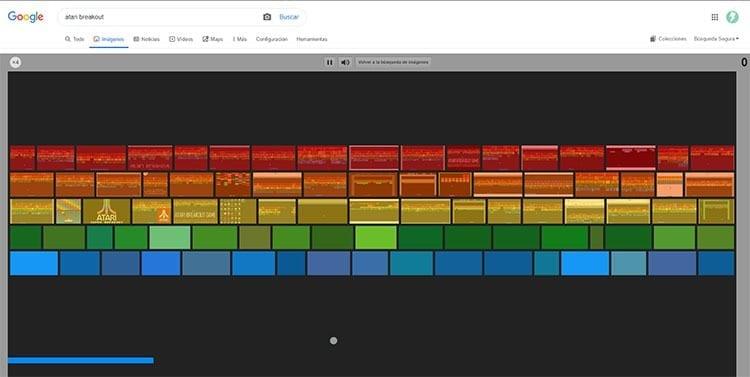 Atari Breakout en Google Imagenes
