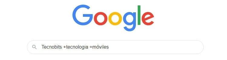 Incluir palabras en búsquedas