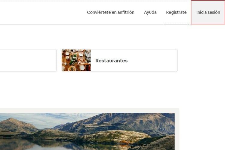 Iniciar sesión en Airbnb