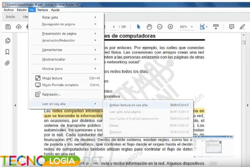 lector de voz para PDF